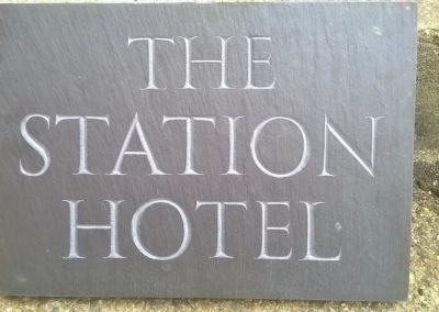 Riven Plum slate sign