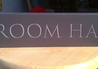 Plum slate house sign