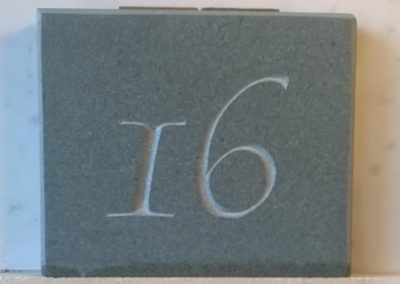 Green slate house numbers