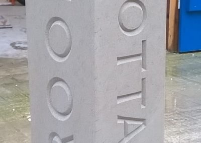 Bespoke York sandstone house sign