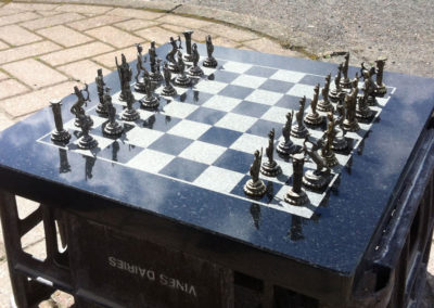 Granite chess board