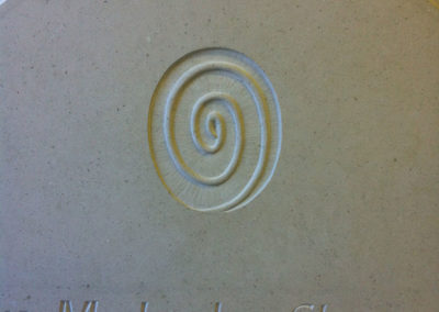 Spiral carving on Portland limestone headstone