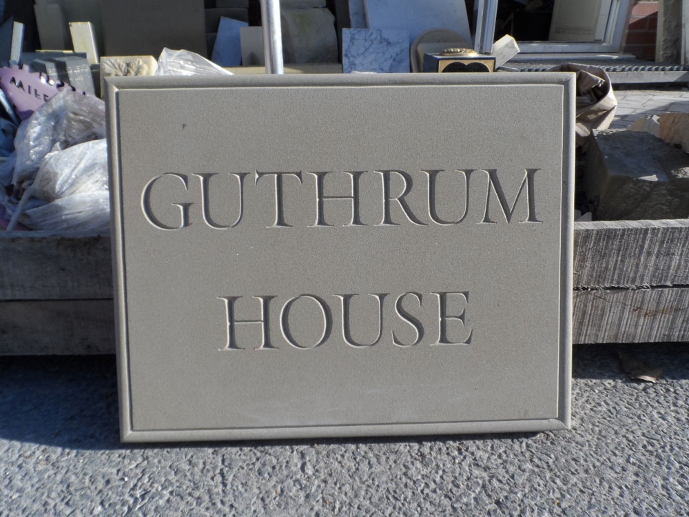 Hand Carved House Signs