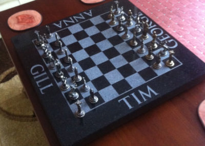 Personalised Granite chess board