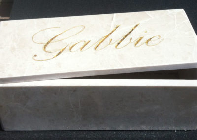 Personalised Marble jewellery box