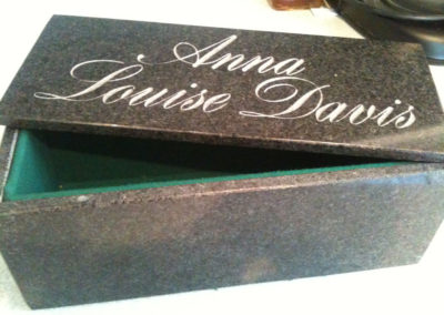 Personalised Granite jewellery box