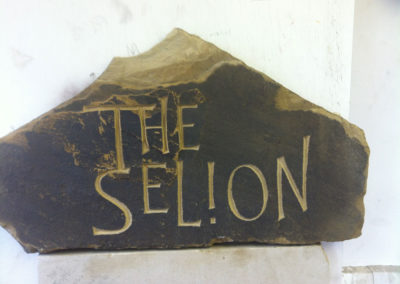 Rustic York sandstone house sign