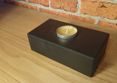 Black Slate tea light holder