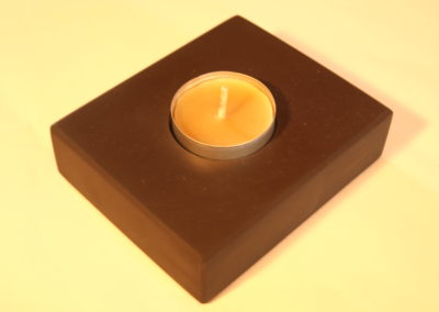 Plum Slate tea light holder