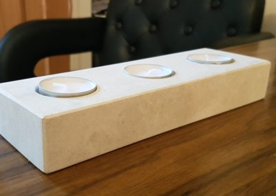 Portland limestone tea light holder