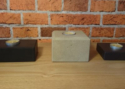 Stone tea light holders
