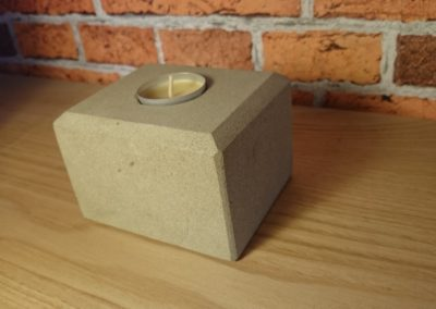 York Sandstone tea light holder