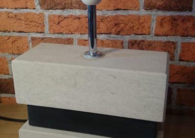 Portland Limestone and Slate lamp